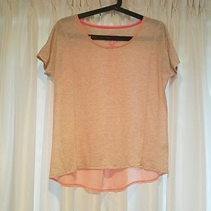 Tan/peach sheer T-shirt